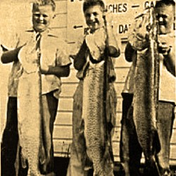 Cousins with Muskies 1955 270x250